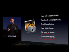 Steve Jobs talks about letterpress in iPhoto