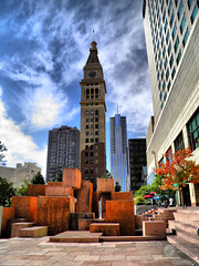 D&F Tower (Old Town Drafting) Tags: park old justin usa tower art public statue price buildings town df colorado downtown landmark denver fisher co daniels hdr drafting