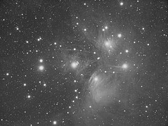 M45 Pleiades (The Seven Sisters) luminance (Terry Hancock www.downunderobservatory.com) Tags: camera sky mountain night digital canon wow stars photography star pier backyard mark space cluster shed deep images observatory telescope astrophotography m45 terry astronomy imaging canon5d hancock dslr messier ccd universe instruments amateur cosmos deepspace pleiades mkii markii tmb astronomer teleskop byo f7 refractor nebulae deepsky mi250 canoneos5dmarkii astrophotographer Astrometrydotnet:status=solved tmb130ss Astrometrydotnet:version=14400 Astrometrydotnet:id=alpha20101082880512