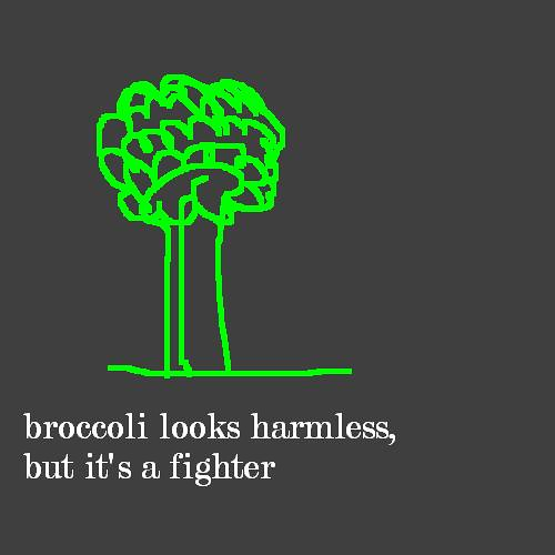 broccoli looks harmless