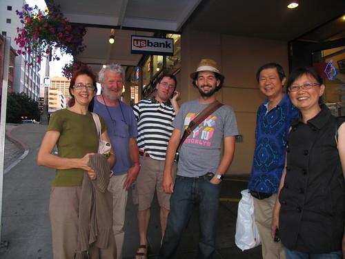 Urban Sketchers in Seattle - after dinner