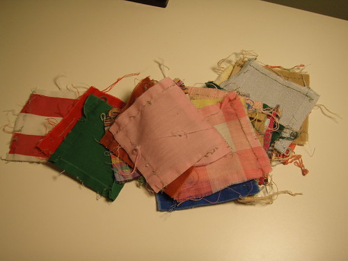 Squares off Grandma Newbold's quilt