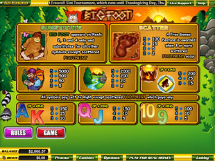 free Big Foot slot mini symbol