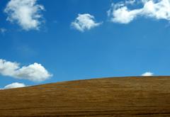palo alto hills (.Leili) Tags: california blue summer white nature grass clouds rural geotagged outdoors us warm farm wheat hill conservation environmental hills heat environment paloalto puffs rolling cerulean leilitowfigh gaspardeportola cumulusfractus zachhollandsworth