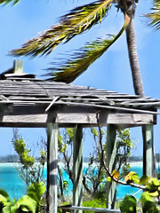 Island breeze (Tabbie-cats) Tags: ocean blue light sea vacation plants seascape color beach nature water beautiful yellow canon island amazing sand bravo paradise shadows dof turquoise gorgeous peaceful structure explore hut palmtree stunning bahamas breeze emerald gree tranquil hdr blueribbonwinner supershot i500 interestingness339 normanscay macduffs wishingiwasthere abigfave flickrgold