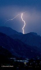 lightening in doon valley (bhumeshbharti) Tags: india nature clouds nikon valley monsoon lightening thunder dehradun doon bhumesh