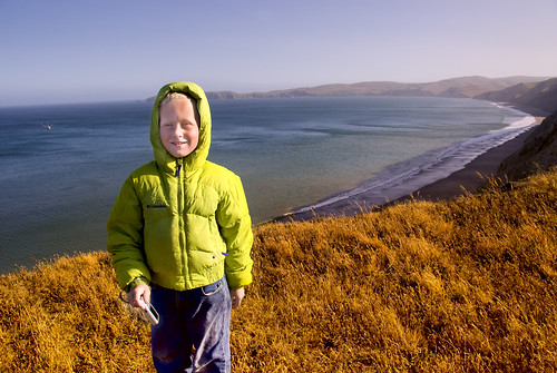 Julian above Drakes Beach