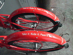 Vancity Bike Share: Take it.  Ride it.  Pass it on.