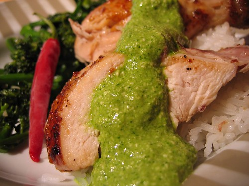 Peruvian Roasted Chicken With Aji Verde Recipe — Dishmaps