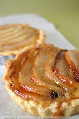 Rustic Vanilla Pear and Almond Tart