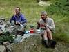 Déjeuner au bivouac le matin du 2ème jour