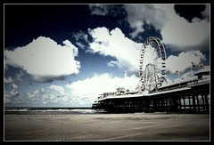(andrewlee1967) Tags: uk england sky beach clouds landscape pier seaside lancashire bigwheel blackpool andrewlee canon400d andrewlee1967 focusman5