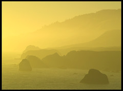fog at sunset (MistyDays / CB) Tags: california sunset nature northerncalifornia fog landscape coast haze natural coastline layers sonomacounty russian seashore russianriver californiacoast questfortherest seastacks searocks naturesfinest charleneburge stormygirl 25faves foggysunset abigfave russiancoast blulffs