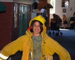 Violet as a fireman