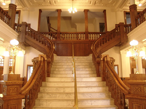 The Grand Staircase in Boldt Castle, located in Alexandria Bay, Thousand Islands, NY.