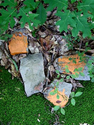 property line corner rocks