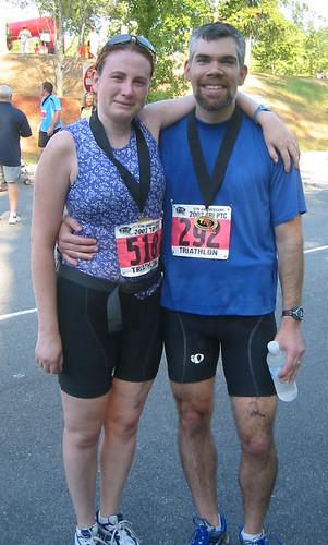 Bill & Jenn Post Triathlon