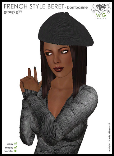 [MG fashion] French style beret - bombazine