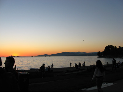 sunset at english bay 2