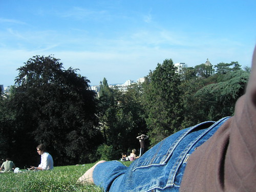 Lazing in the park