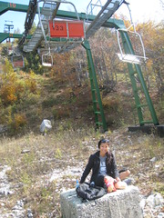 picnic lunch under the ski lift