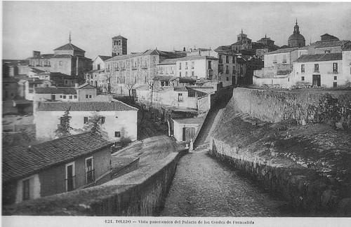 Paseo de San Cristóbal antes de la ampliación de comienzos del siglo XX
