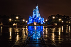 A Wet Evening at MK (explore) (CodyWDWfan) Tags: world longexposure vacation reflection castle wet hub orlando nightshot florida pavement sony magic kingdom disney disneyworld 1750 cinderella wdw waltdisneyworld walt tamron magickingdom cinderellacastle themagickingdom a700 disneypictures tamron1750 1750mm tamron1750mm disneyphotos sonya700 dslra700 sonydslra700 disneyworldphotos disneyworldpictures wdwphotos wdwpictures