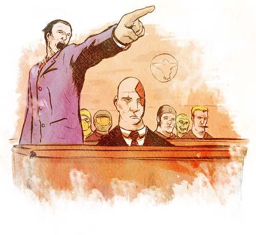 Supreme Court Violent Videogame Trial Courtroom Drawings