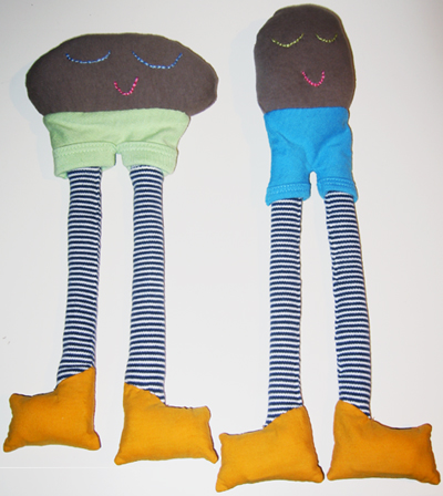 Stuffies with yellow boots