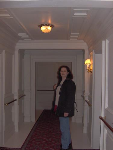 My SIL Joyce in 1st class hallway