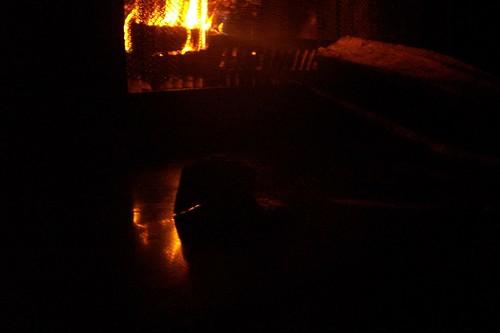 fireplace reflection