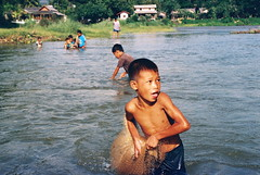 Fishing (*YIP*) Tags: film asia southeastasia backpack laos vangvieng travelalone