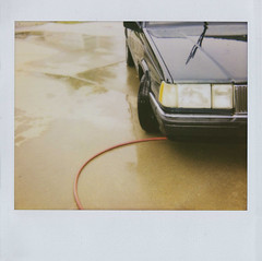 car wash (jena ardell) Tags: california car polaroid hose hood headlight wetpavement jenaardell soshinyandclean
