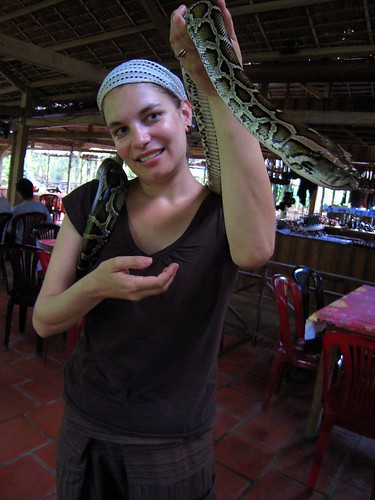 Chillin' with my pal the constrictor