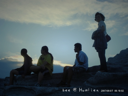 花蓮石梯坪海邊的日出---颱風來前的寧靜 (3)