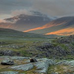 Sunset at Alesjaure, Swedish Lappland