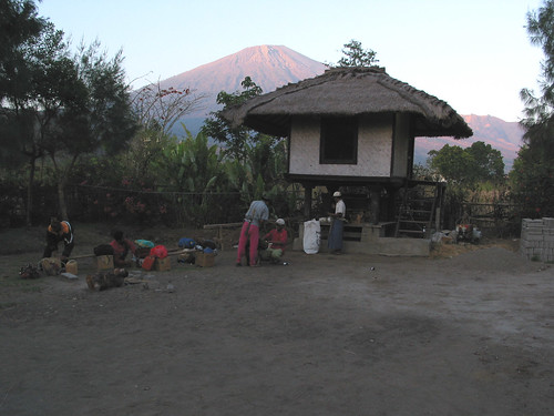 Rinjani from Park HQ