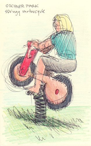 Springy Motorcycle Sketchtoon