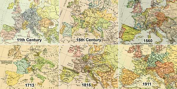 Shifting states of Europe