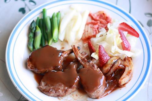Lamb steak dish