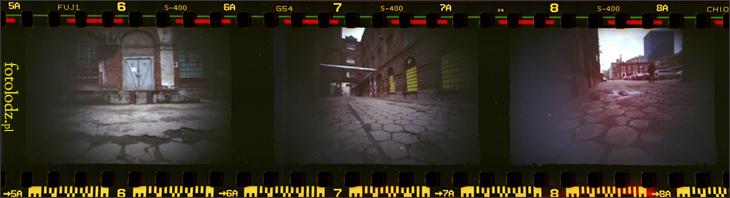 Kamera otworkowa w kompleksie Ramischa w Łodzi