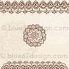 Mehndi Henna Tattoo Paisley Doodles Illustration by blue67design