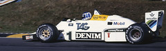 Keke Rosberg Qualifying the Williams in the European GP at Brands Hatch 1983 2 (Philinflash) Tags: england 6x6 car williams f1 racing hasselblad grandprix 1983 formula1 motorsport autosport brandshatch motoracing