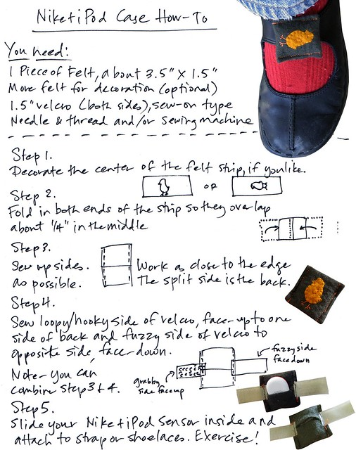 Nike+iPod Shoe Case How-to
