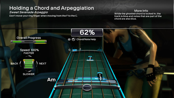 Rock Band 3 - Pro Guitar training