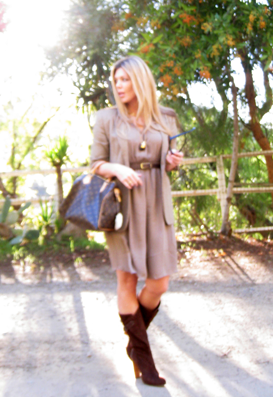 suede 70s boots+neutral dress and jacket+ralph lauren+tom ford+fashion+outfit+what I wore