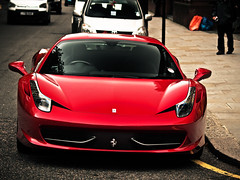 458 Italia (nbb_photo) Tags: uk red london car dark italian italia ferrari exotic sportscar carspotting 458