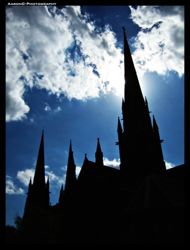 St Patrick Cathedral silhouette