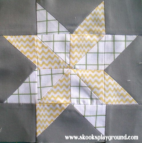 Sawtooth Pinwheel Star Block #2