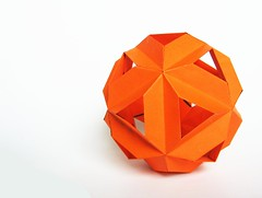 orange (ccyytt) Tags: orange paper origami recycled handmade crafts kasudama